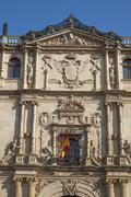 Main entrance of Alcala de Henares University Stock Photos