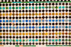 Colorful tiles in Alhambra - stock photo