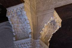 Capital in Alhambra - stock photo