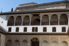 Courtyard at Alhambra - stock photo