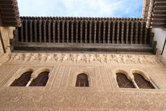 Looking up the Patio in the Alhambra Stock Photos