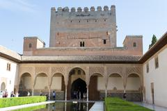 Palace in Alhambra - stock photo