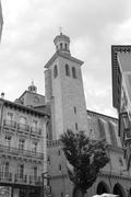 San Saturnino church by the city hall - stock photo