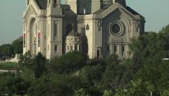 Cathedral of Saint Paul - Tilt Stock Footage