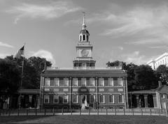 Independence Hall Black and White - stock photo