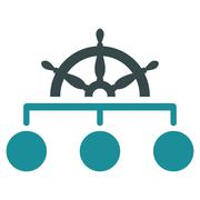 Rule icon from Business Bicolor Set Stock Illustration
