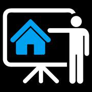 Realtor icon from Business Bicolor Set - stock illustration
