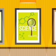 Science poster Stock Illustration