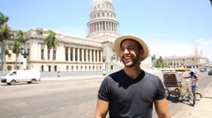 Tourist in Havana, Cuba Stock Footage