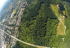 Aerial view of Surrey, BC Canada Stock Photos