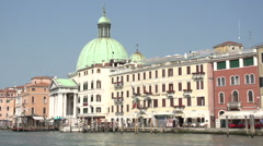 Stock Video Footage of San Simeone Piccolo at Canal Grande