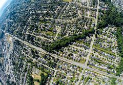 Aerial view of Surrey, BC Canada - stock photo