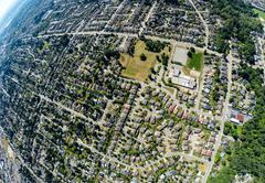 Aerial view of southern Surrey, BC Canada Stock Photos
