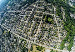 Aerial view of southern Surrey, BC Canada - stock photo