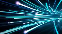 Flowing Data Streaks Background Stock Footage