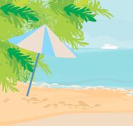 Tropical landscape Stock Illustration