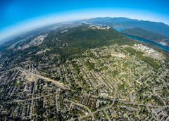 Aerial view of Coquilam, BC Canada - stock photo