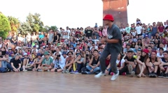 Footwork Battle. B-boying Stock Footage