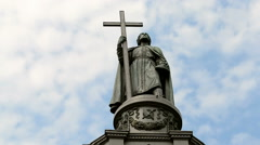 Vladimir monument (Vladimir the Great aka Great Prince of Kiev), Ukraine.(72365) Stock Footage