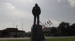 Silhouette Montgomery by D Day Museum in Southsea Hampshire Stock Footage