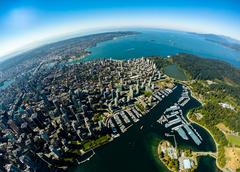 Stock Photo of Aerial view of downtown Vancouver, BC Canada
