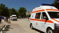 Ambulances during emergency response Stock Footage