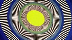 Yellow Egg Sun Oval Optical Illusion  Animation Background Stock Footage