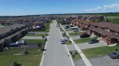 Suburban neighbourhood fly-over Arkistovideo