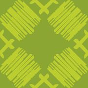 Stock Illustration of Green Seamless Tiled Lines