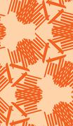 Symmetrical Orange Line Pattern Stock Illustration