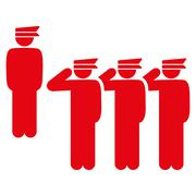 Army icon - stock illustration