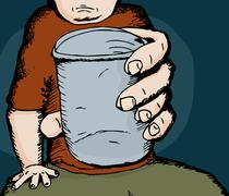 Person Giving a Drink Stock Illustration