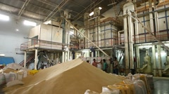 Rice at a rice mill Stock Footage