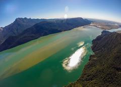Aerial view of mountains near Pitt Lake, BC Canada Stock Photos