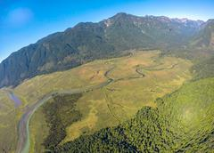 Aerial view of northern Pitt Meadows, BC Canada Stock Photos