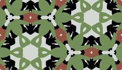 Green and Brown Symmetrical Pattern Stock Illustration