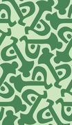 Stock Illustration of Green Key Shapes in Wallpaper