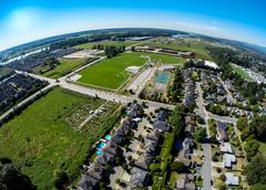 Aerial view of Pitt Meadows, BC Canada Stock Photos