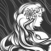 Beautiful Girl - stock illustration