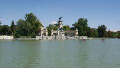 Hyperlapse Madrid - Retiro park - stock footage
