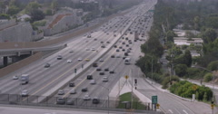 Timelapse Morning Commute on I-405 Stock Footage