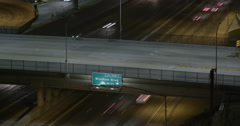 Timelapse Wilshire Blvd exit of I-405 Stock Footage