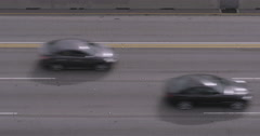 Birds Eye View of Cars on Highway Stock Footage