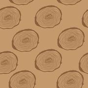 Stump. Muzzle. Seamless Pattern Background. Vector Illustration Stock Illustration