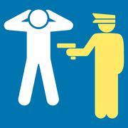 Arrest icon - stock illustration