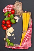 Mediterranean food. Pasta. Stock Photos