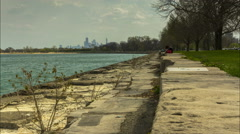 Foster Beach and Steps in Chicago 4K - stock footage