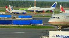 Airport traffic Stock Footage