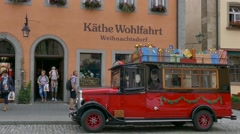 Vintage Car, Rothenburg ob der Tauber, Germany Stock Footage