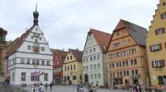 Ratstrinkstube, Rothenburg ob der Tauber, Germany Stock Footage